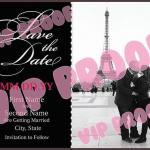 Frenchie B&W Save the Date