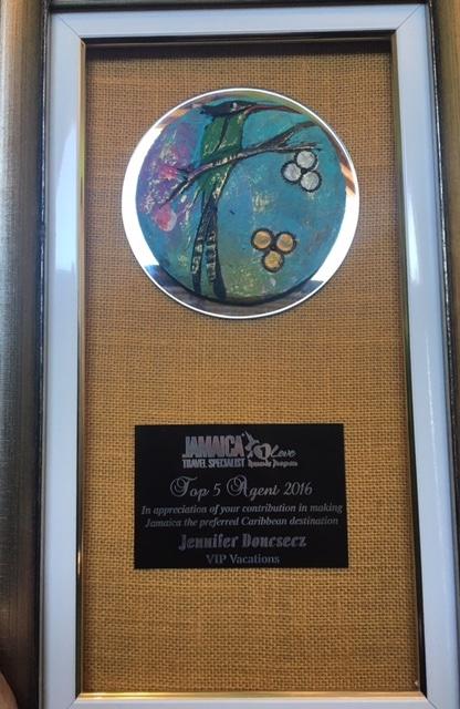 VIP Vacations, Jamaica, Award