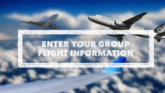 Enter your flight information here for your transportation!