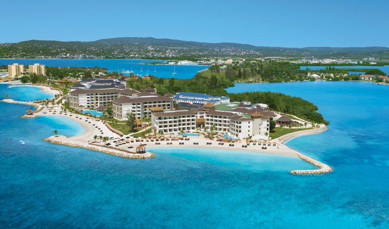 A second aerial of Secrets Wild Orchid Montego Bay