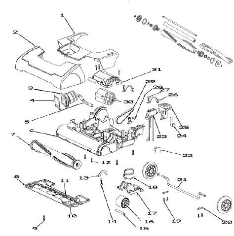 Oreck Vacuum Parts Diagram Rug Doctor Replacement Parts
