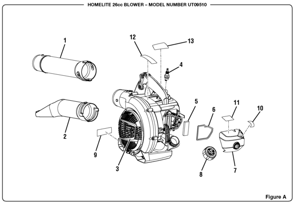 Homelite UT09510 26cc Blower Parts and Accessories