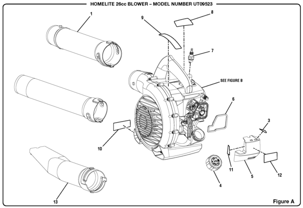 Homelite UT09523 Gas Blower Parts and Accessories