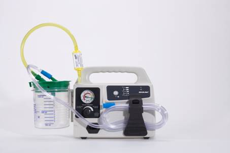 S-SCORT® PORTABLE ELECTRIC SUCTION UNIT WITH BATTERY BACK UP