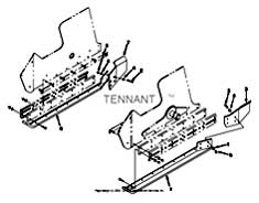 Tennant Centurion Street Sweeper (S/N 002001 & Up) Parts