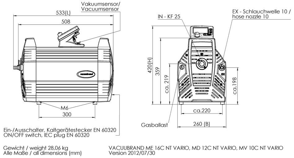 MD 12C NT VARIO Chemistry diaphragm pump