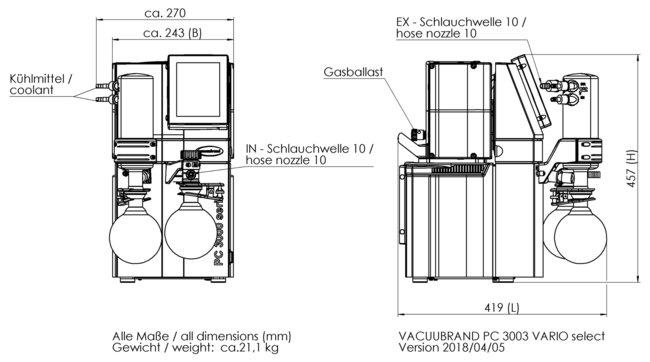 PC 3003 VARIO select VARIO®化学真空系统