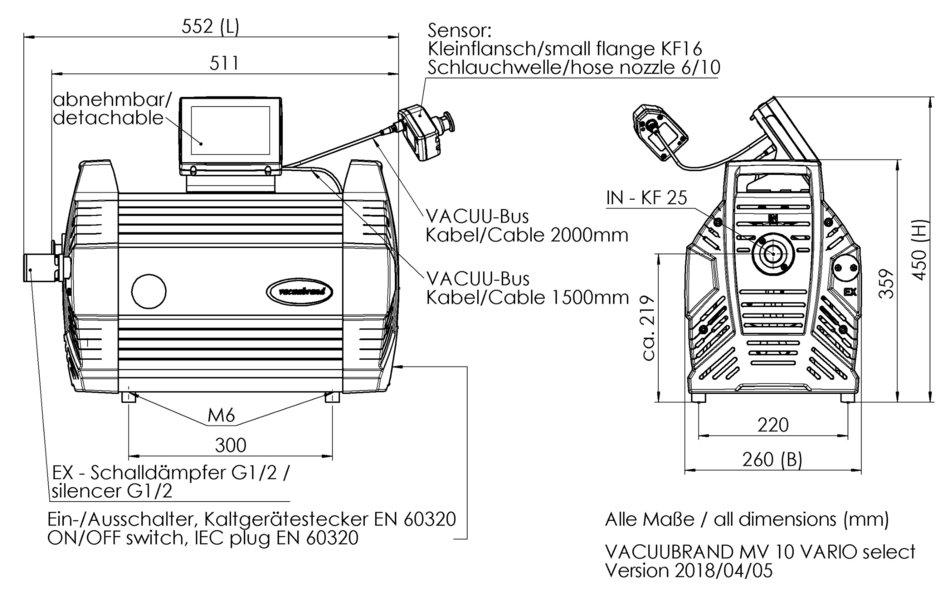 MV 10 VARIO select Pompe à membrane