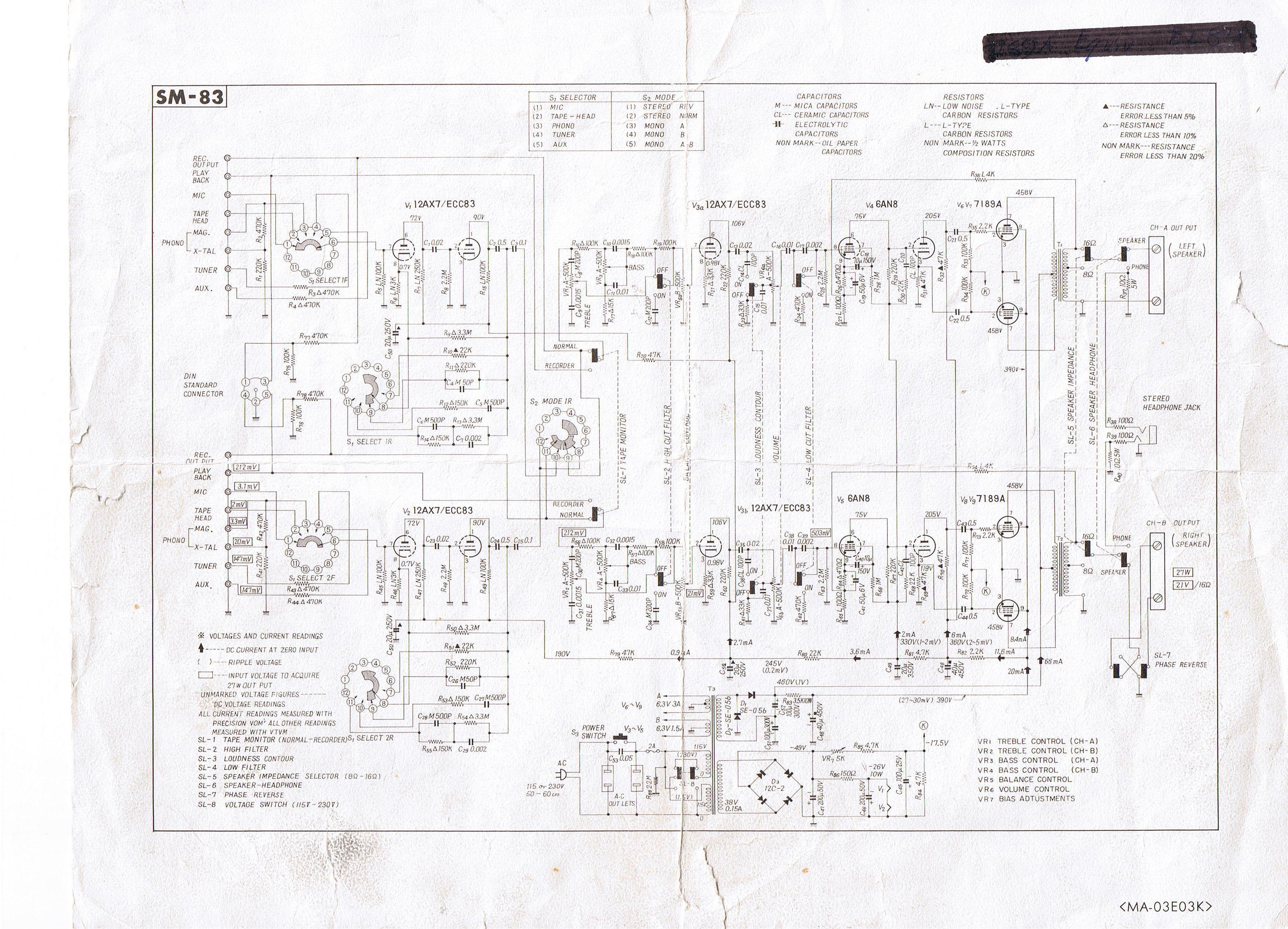 Pioneer Sm 83 Amp Tube Rolling