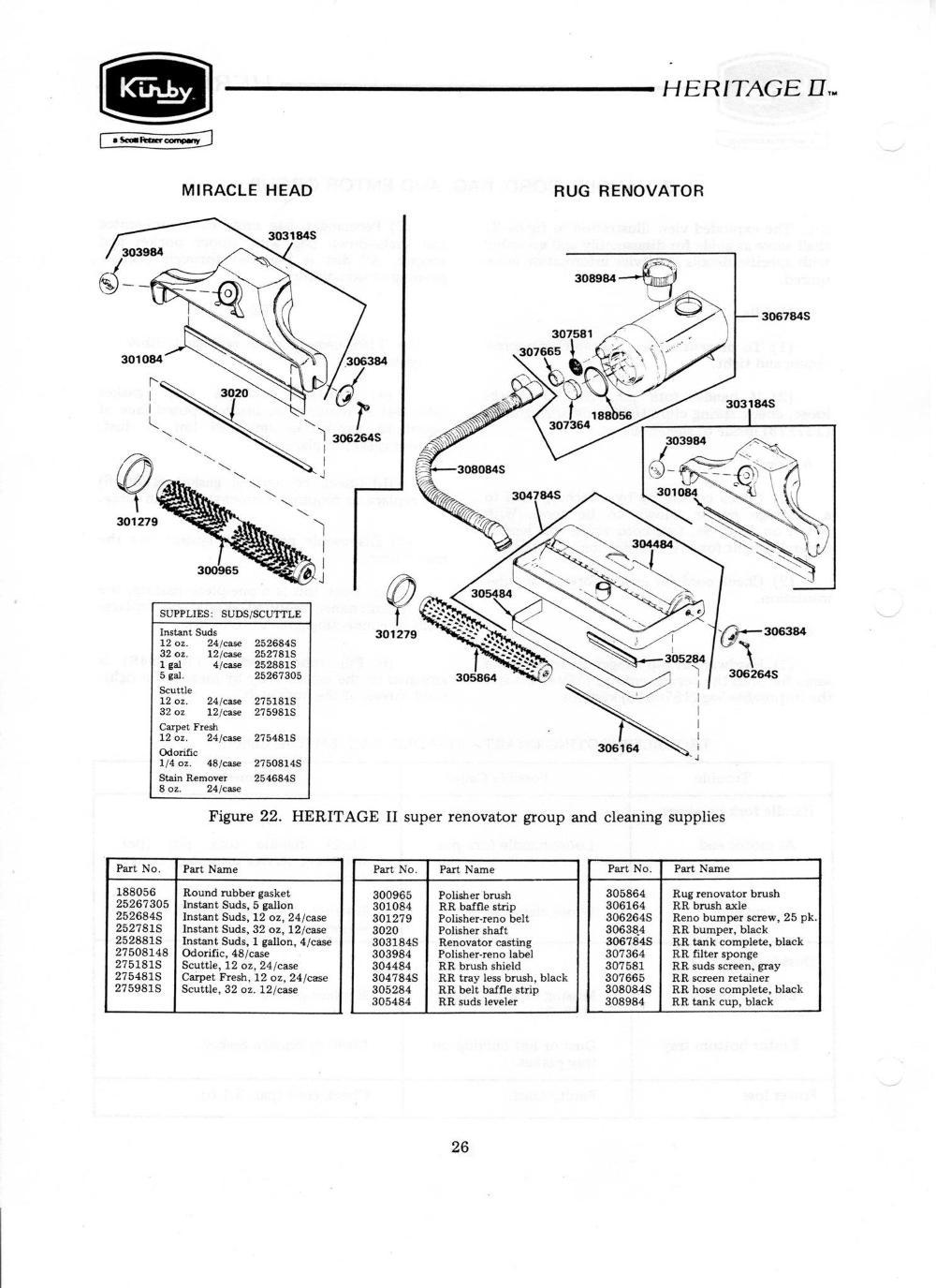 Kirby Rug Renovator Details (Pre-Heritage II)