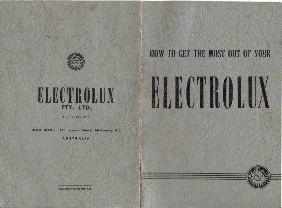 Australian Electrolux manual