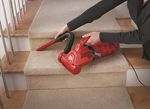 Best Vacuum For Stairs 2017: Dirt Devil Hand Vacuum Cleaner Ultra Corded Bagged Handheld Vacuum M08230RED