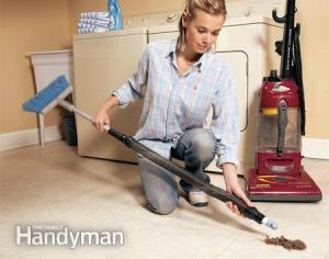 clean vacuum cleaner hose broom handle