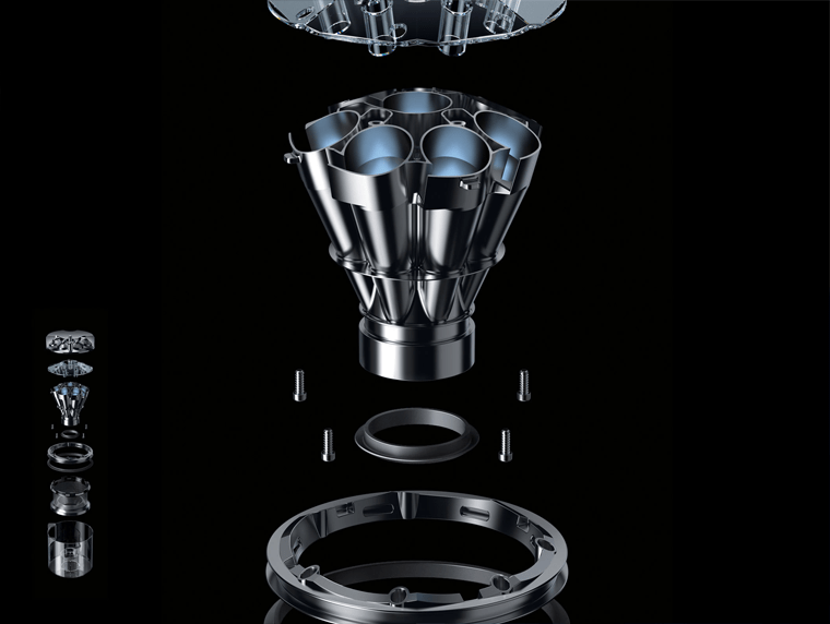 Dyson Eye 360 radial cyclones technology