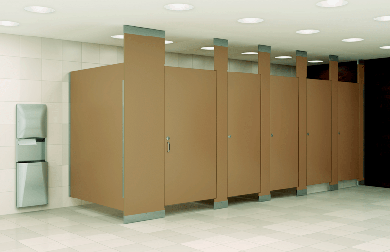 Clean office restroom