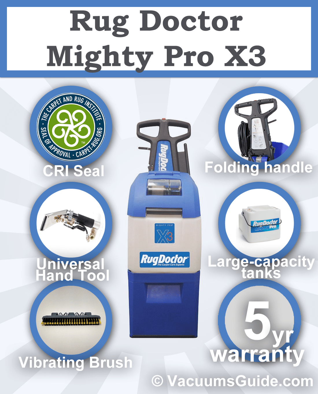 Rug Doctor Mighty Pro X3 features