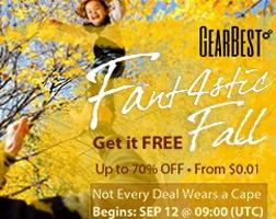 Gearbest fall promotion