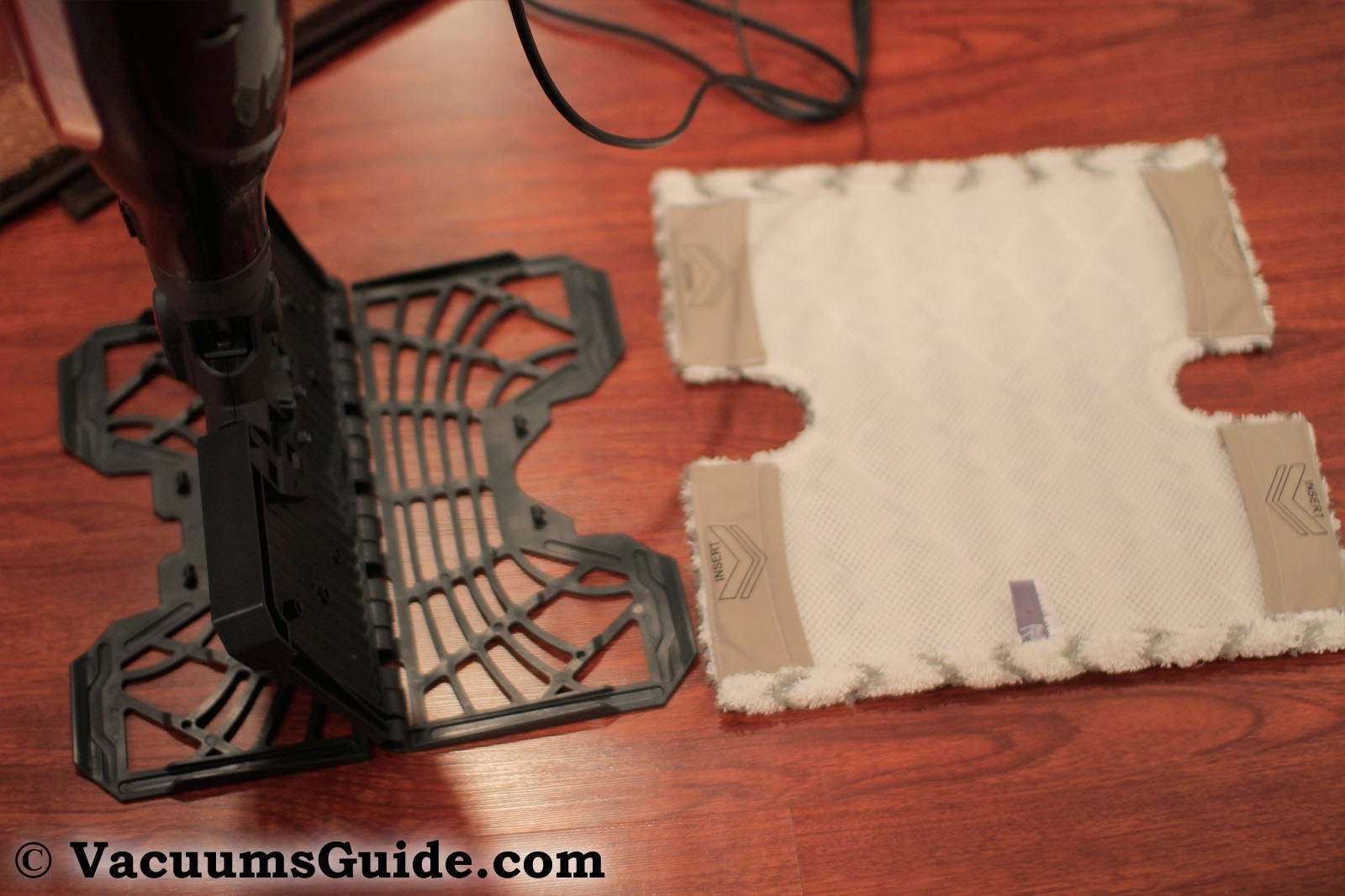 Attaching the pad – step 1