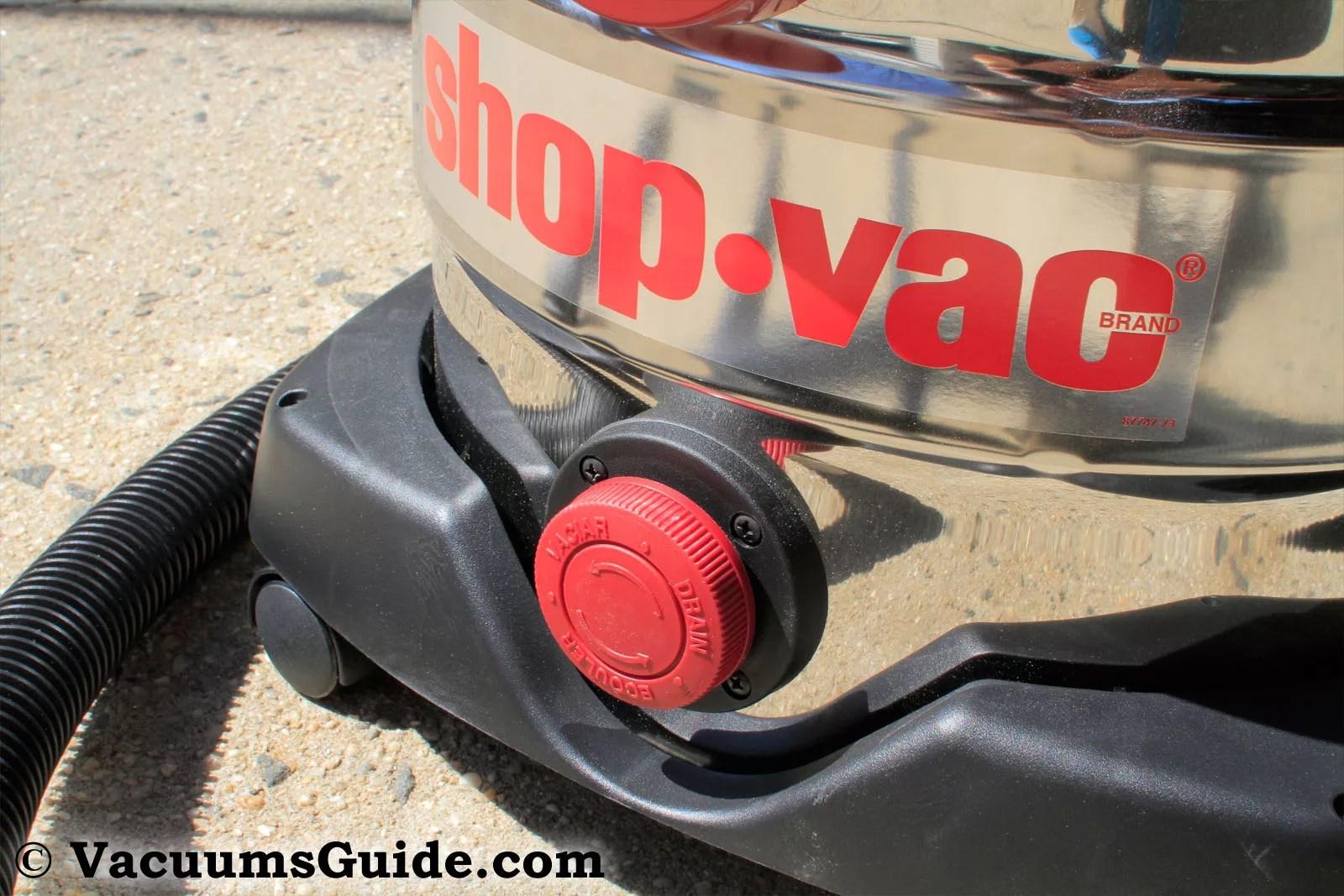 Shop-Vac drain valve