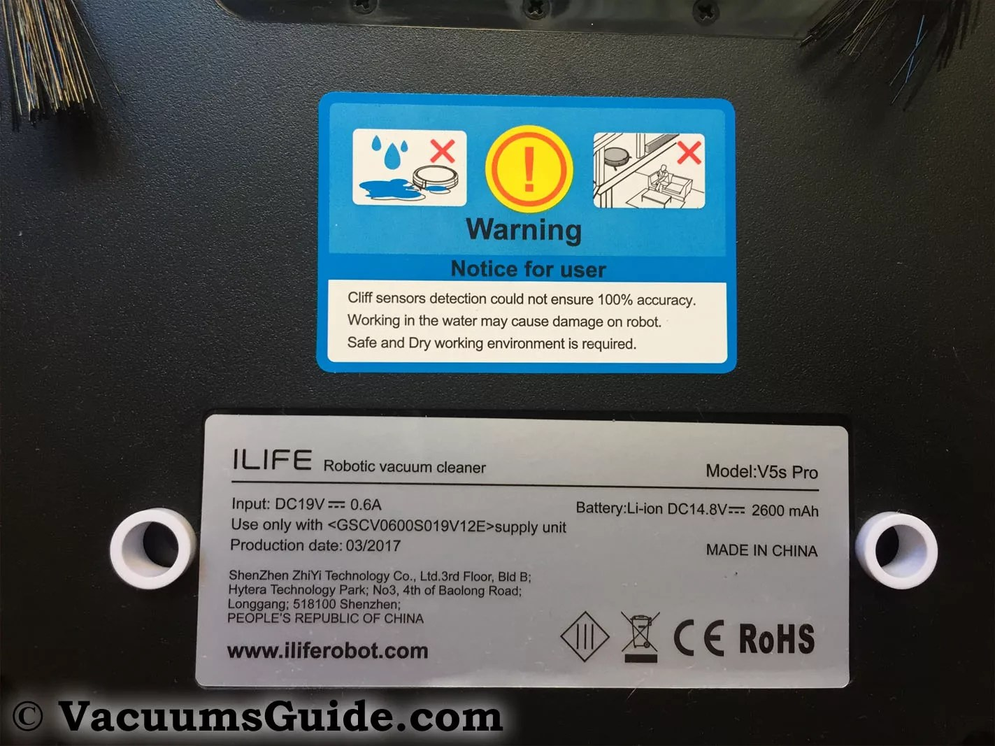iLife V5S PRO – back view closeup