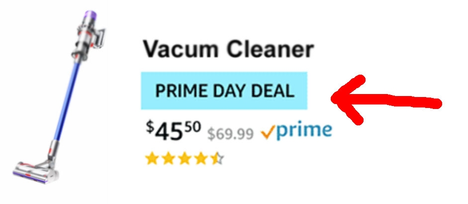 Prime Day Deal - watch the blue tag