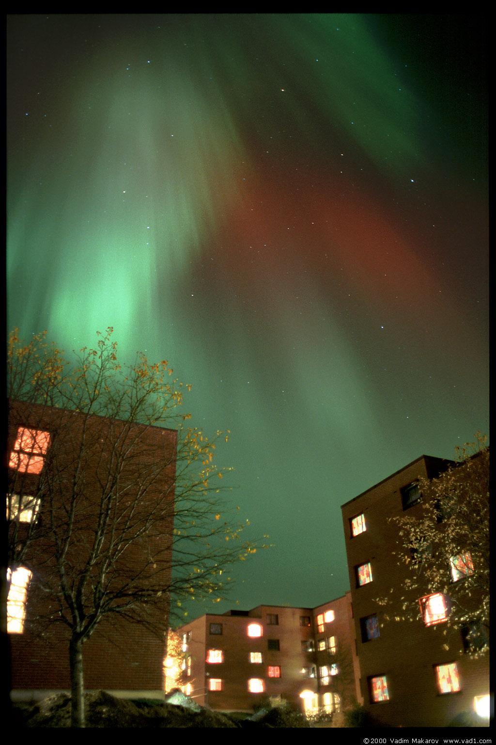 Photo Northern Lights Over Moholt Student Village