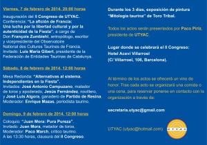 Invitados y horarios del II Congreso.