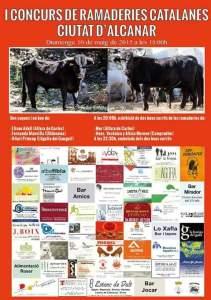 Cartell anunciador del concurs, amb els toros de Moreno i Mur.