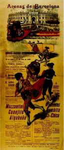 Cartel de la inauguración de Las Arenas.