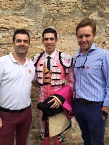 Gabriel Pericás junto a Miguel Gomis (izqda.) y David Devis (dcha.)