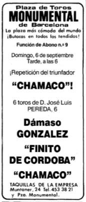 Anuncio en La Vanguardia en su edición del jueves, 3 de septiembre de 1992.