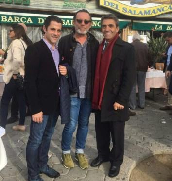 Marc Serrano,Michel Bouisseren y Victorino Martín.