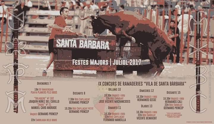 Així serà la setmana de bous de Santa Bàrbara