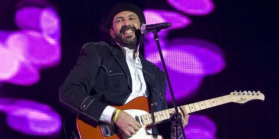 "Dominican Republic singer Juan Luis Guerra performs during his ""La Travesia Tour"" in Santo Domingo"