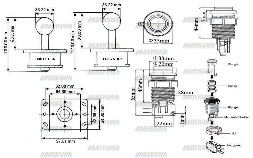 2x JOYSTICKS & 16x BUTTONS & Xin-mo USB Encoder