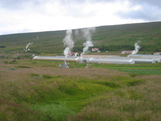 Warmtebronnen worden gebruikt voor verwarming in IJsland