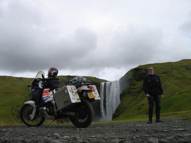De Skógafoss waterval in IJsland
