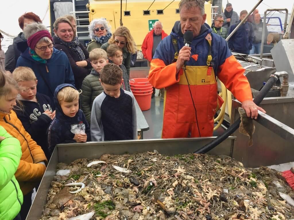 Texel - Fietsvakantie - Kinderen - Vaders op Reis - Garnalenvissen