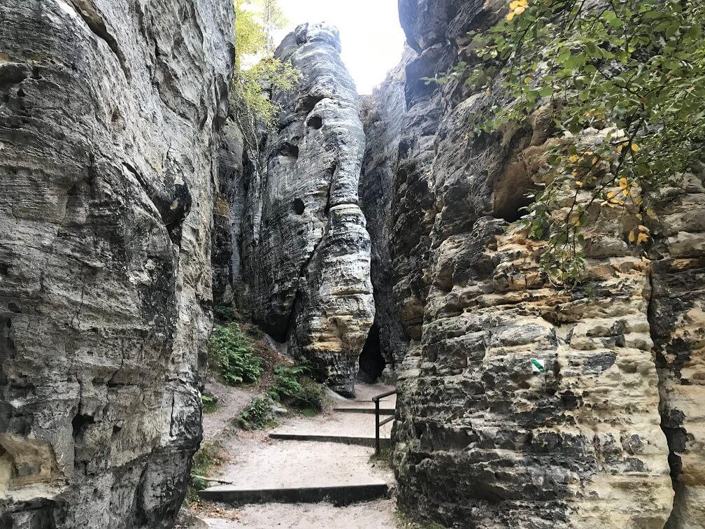Tisa en de rotsformaties in Tsjechië