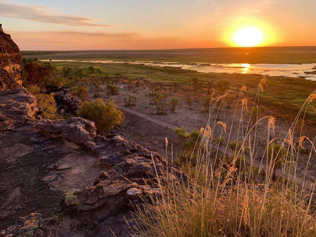 Zonsondergang bij Ubirr, absoluut hoogtepunt van Kakadu