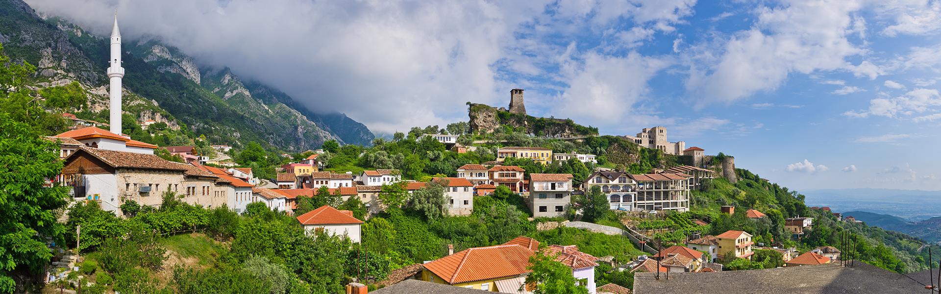 Kruja castello, tour dell'Albania, viaggio in Albania