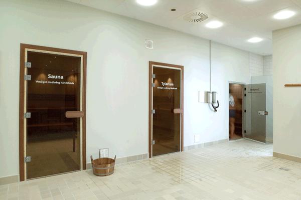Wellnessafdeling sauna, tylarium of Dampbad