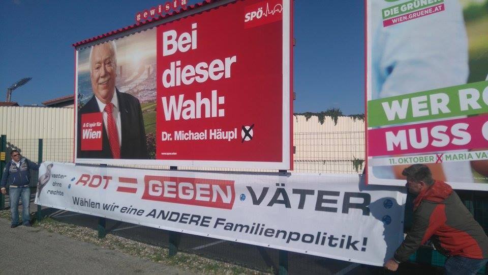 Wahl 2015 Häupl Rot ist gegen Väter