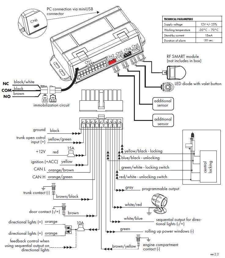 smart diagrama de cableado de la pc