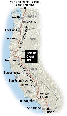 Pacifique Crest Trail Map