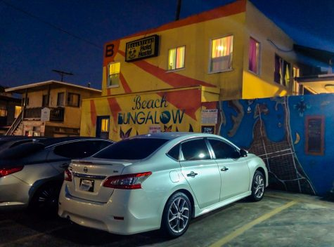 Luxury cars at the hostel