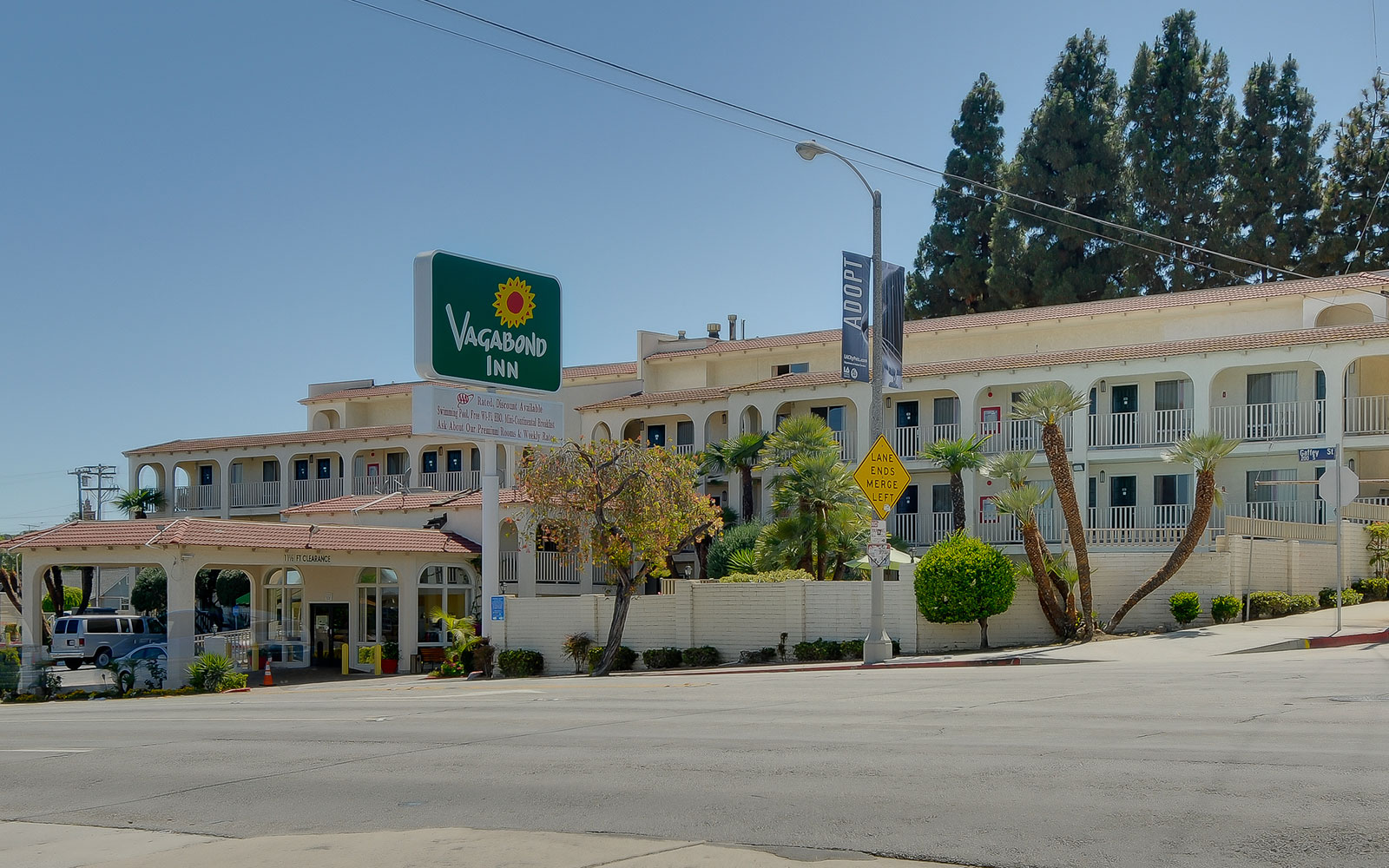 San Pedro CA Hotel Directions  Vagabond Inn San Pedro