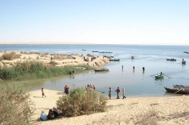 Fishermen in Fayum, Egypt