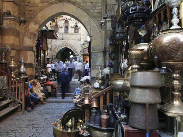 Khan El-Khalili Bazaar in Cairo, Egypt
