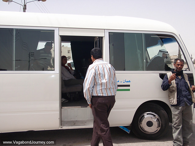 passengers waiting in the taxi in jordan